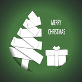 Christmas tree paper patchwork Stock Images