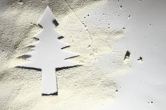 Christmas tree from the paper and snow Royalty Free Stock Image