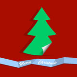Christmas tree from paper Royalty Free Stock Image