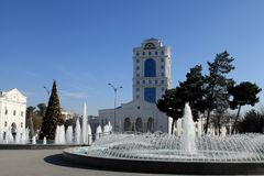 Christmas tree in the park, Ashgabad, capital of Turkmenistan. Royalty Free Stock Photos