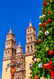Christmas Tree Parroquia Cathedral Dolores Hidalgo Mexico Stock Photography