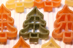Christmas tree pasta Stock Photography