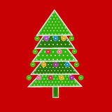 Christmas tree in patchwork style Royalty Free Stock Image