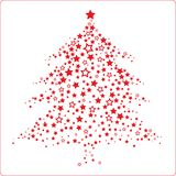 Christmas tree pattern Royalty Free Stock Image