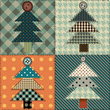 Christmas tree pattern Stock Photography