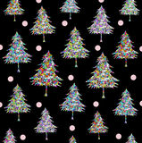 Christmas tree pattern Stock Photos
