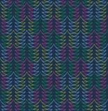 Christmas tree pattern. Seamless stylish christmas tree pattern. Vector illustration Stock Photo