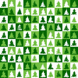 Christmas tree pattern green. A square background with water-colour christmas tree Royalty Free Stock Photos