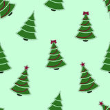 Christmas tree pattern. Christmas tree seamless background Stock Photography