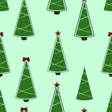 Christmas tree pattern. Christmas tree seamless background Stock Photo
