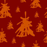 Christmas tree pattern Stock Images