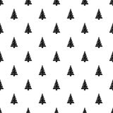 Christmas tree pattern, simple style Royalty Free Stock Photo