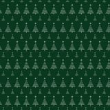 Christmas tree pattern with stars on green background. For gift wrapping paper Stock Photo