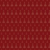 Christmas tree pattern with stars on red background. For gift wrapping paper Stock Images