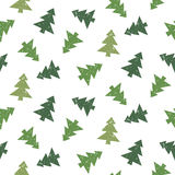Christmas tree pattern Royalty Free Stock Images
