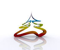 Christmas Tree of Peace - 3D Royalty Free Stock Image