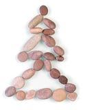 Christmas tree. The pebble spa stones christmas tree isolated on white Royalty Free Stock Image