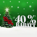 Christmas Tree 40 percent Rabatt Discount Stock Image