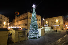 Christmas tree - Perugia Stock Photos