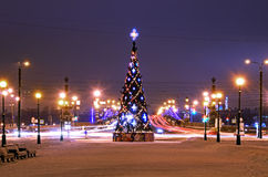 Christmas tree in Petersburg, Russia Stock Image
