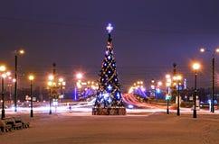 Christmas tree in Petersburg, Russia Stock Image