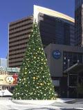 Christmas Tree in Phoenix Downtown, AZ Stock Photos