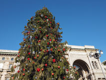 Christmas tree in Piazza Duomo in Milan Stock Photo