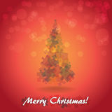 Christmas tree from pieces of puzzle Stock Photos