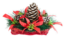 Christmas tree with a pinecone Stock Images