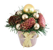Christmas tree with a pinecone Royalty Free Stock Photos