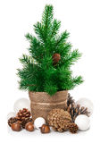 Christmas tree with pinecone balls and acorn Stock Photos