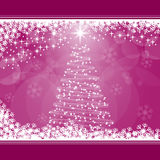 Christmas tree on pink Royalty Free Stock Image
