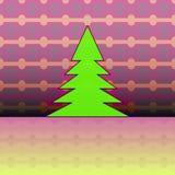 Christmas tree on pink horizontal pattern Royalty Free Stock Photo