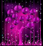 Christmas tree. Pink and silver Royalty Free Stock Images