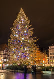 Christmas tree at Place Kleber in Strasbourg. Capital of Christmas. Alsace, France Stock Image