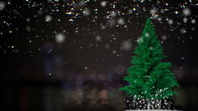 Christmas Tree with place for text stock video
