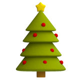 Christmas tree in plasticine or clay style Royalty Free Stock Images