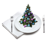 Christmas tree on plate Stock Photo