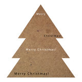 Christmas tree plywood texture. On a white background Stock Image