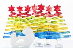 Christmas Tree Polar Bear Family Child Parent Multicolored Royalty Free Stock Photo