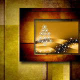 Christmas tree postal card Royalty Free Stock Images