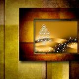 Christmas tree postal card Royalty Free Stock Images