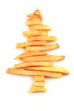 Christmas tree from the potatoes chips Royalty Free Stock Photos