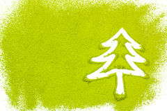 Christmas tree with powdered green tea Royalty Free Stock Images
