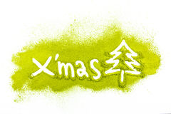 Christmas tree with powdered green tea Stock Images