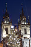 Christmas tree in Prague royalty free stock image