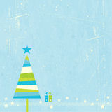 Christmas tree with present Royalty Free Stock Photography