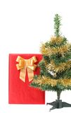 Christmas tree with present box Stock Image