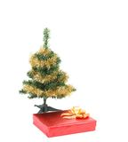 Christmas tree with present box Royalty Free Stock Photo