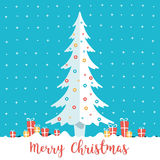 Christmas tree and present boxes. Royalty Free Stock Images